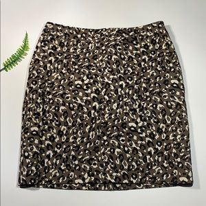 Merona leopard print pencil skirt